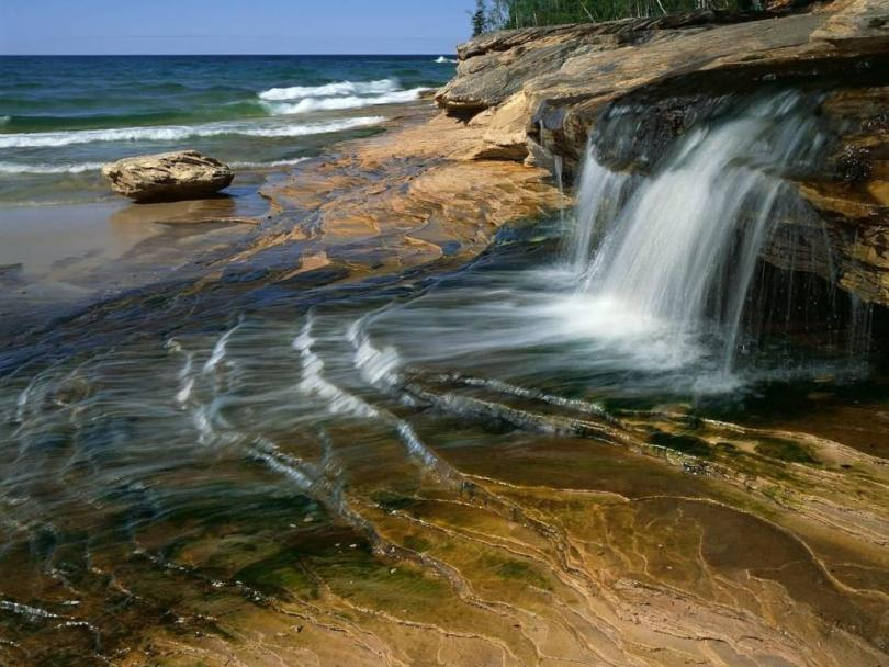 Tremendous Miners Beach Lake Superior Pictured Rocks National Lakeshore Michigan Full HD Wallpaper
