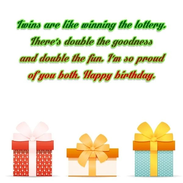 Twins Birthday Wishes Message Image