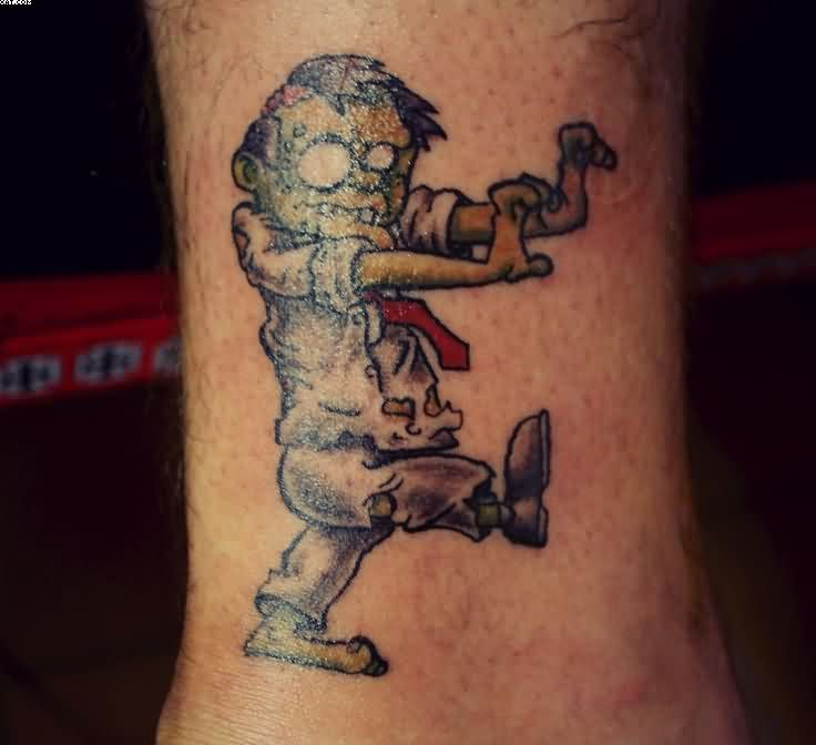 Very Cute Zombie Kid Tattoo