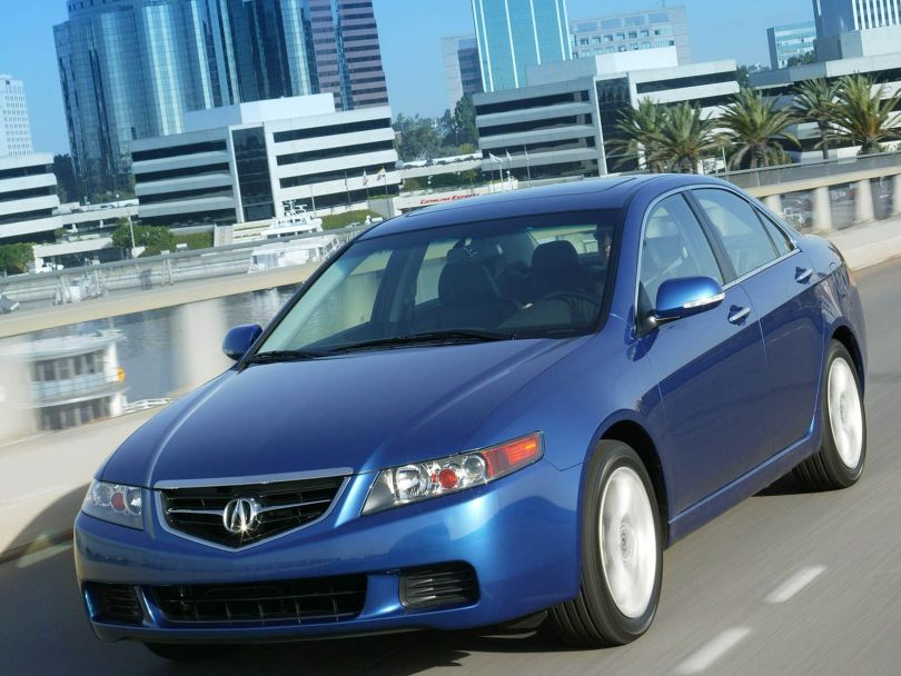Very fast blue color Acura TSX car
