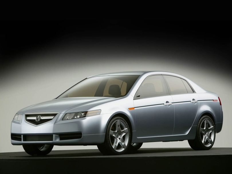 Very fast silver Acura TL Concept Car