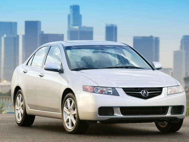 Very fast silver Acura TSX car