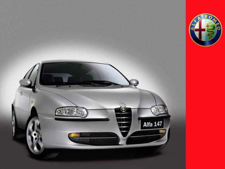 Very fast silver color Alfa Romeo 147 Car