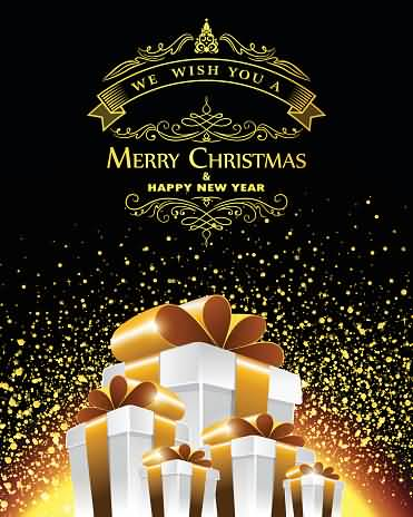 We Wish You A Merry Christmas And Happy New Year Wishes Image