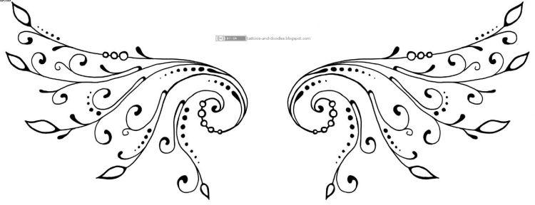 Wing Tattoos Design For Ladies