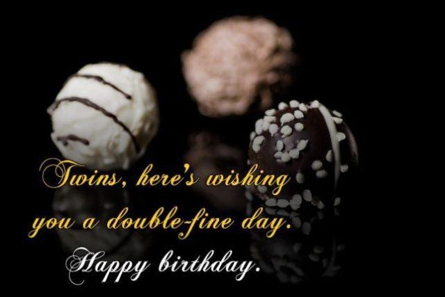 Wish You A Happy Birthday Twins