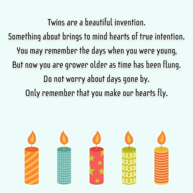 53 Fabulous Birthday Wishes For Twins, Greetings And Sayings ...