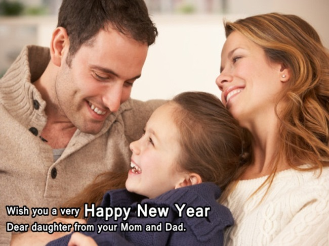 Wish You A Very Happy New Year Dear Daughter Lovely Wishes Image