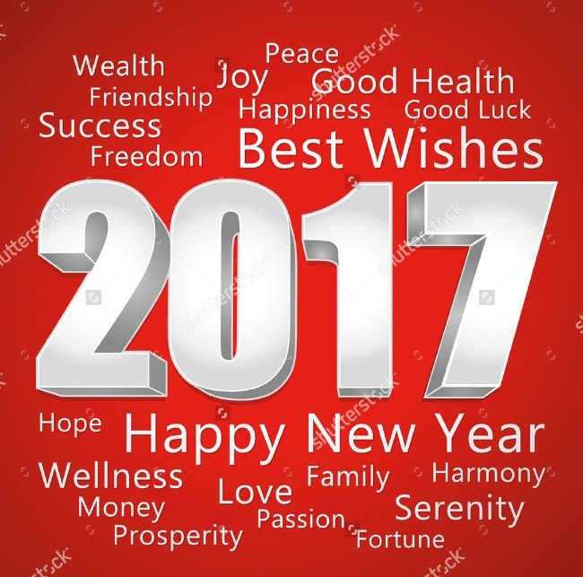 Wishing New Year 2017 Best Wishes Image
