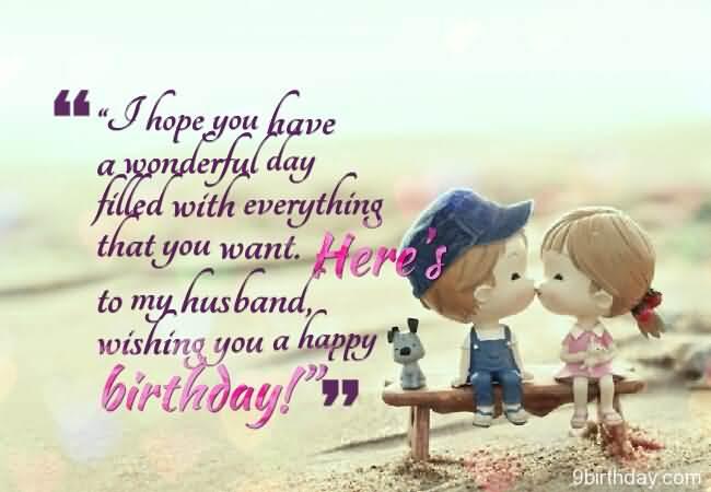 Wishing You A Happy Birthday To My Husband Message Cute Image Wishing My Hubby A Happy Birthday