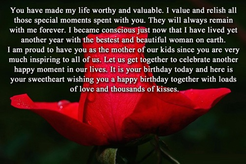Wishing You A Happy Birthday Together With Loads Of Love Long Quotes Image