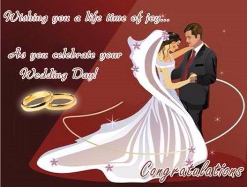 Wishing You A Life Time Of Joy Congratulations