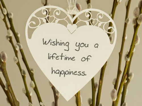 Wishing You A Lifetime Of Happiness