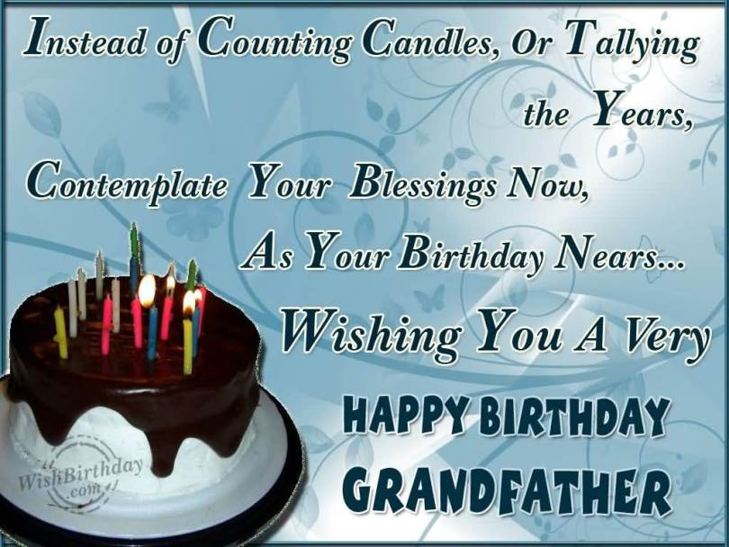 Wishing You A Very Happy Birthday Grandfather Wishes Message