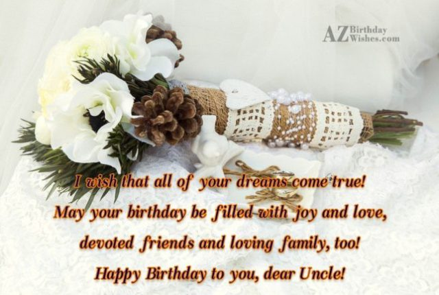Wishing You A Very Happy Birthday To You Dear Uncle
