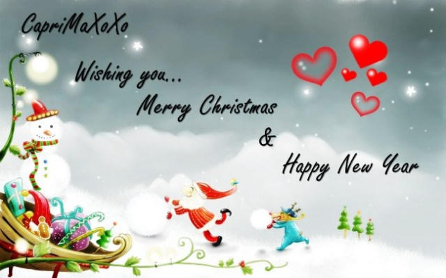 Wishing You Merry Christmas & Happy New Year Greetings Image