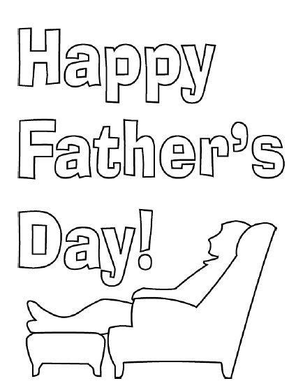 Without Color Text Happy Father's Day Image