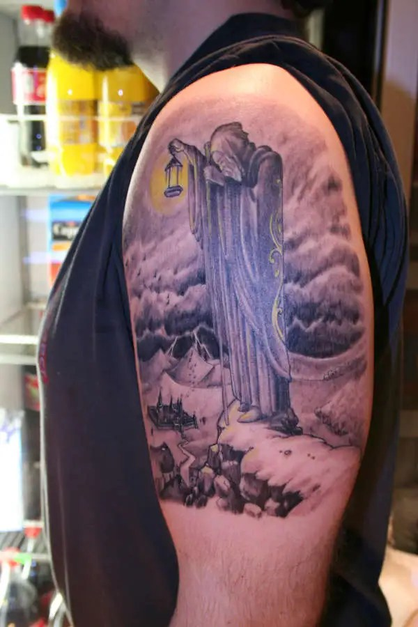 Wizard Tattoo By Most Famous Led Zeppelin On Biceps For Male