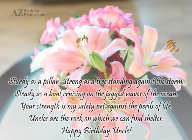 Wonderful Happy Birthday Uncle Greetings Quotes Image