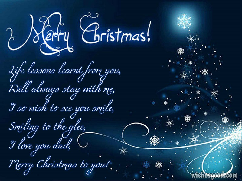 Wonderful Merry Christmas Cards Poem With Snow Flake