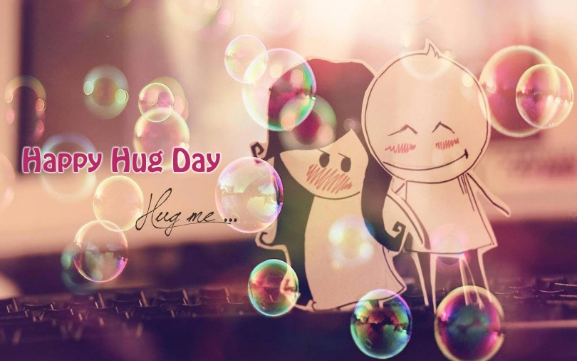 Wonderful Wishes For Friend Happy Hug Day