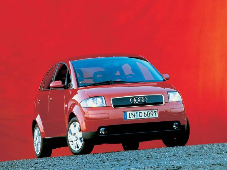 Wonderful view of red Audi A2 Car