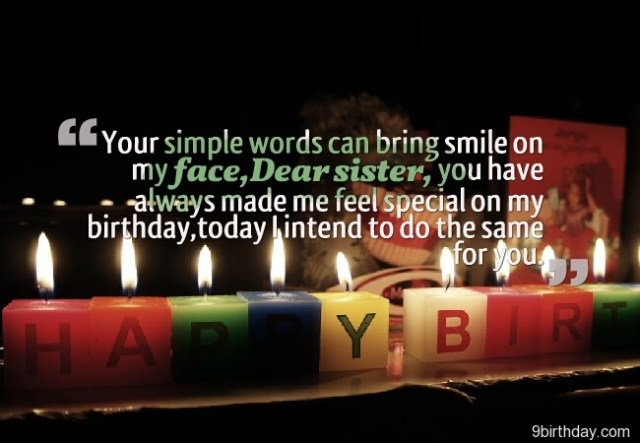 You Are The Special Happy Birthday Sister Message Image