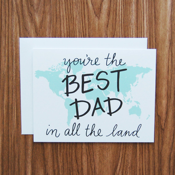 You're The Best Dad In The Land Happy Father's Day Card