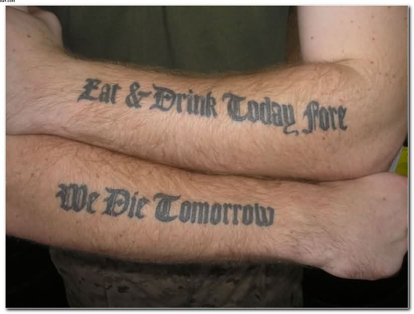 qunique Black Ink Sayings Tattoos On Arms On Forearm