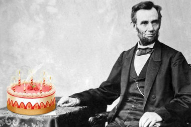 Abraham Lincoln Birthday With Cake Image