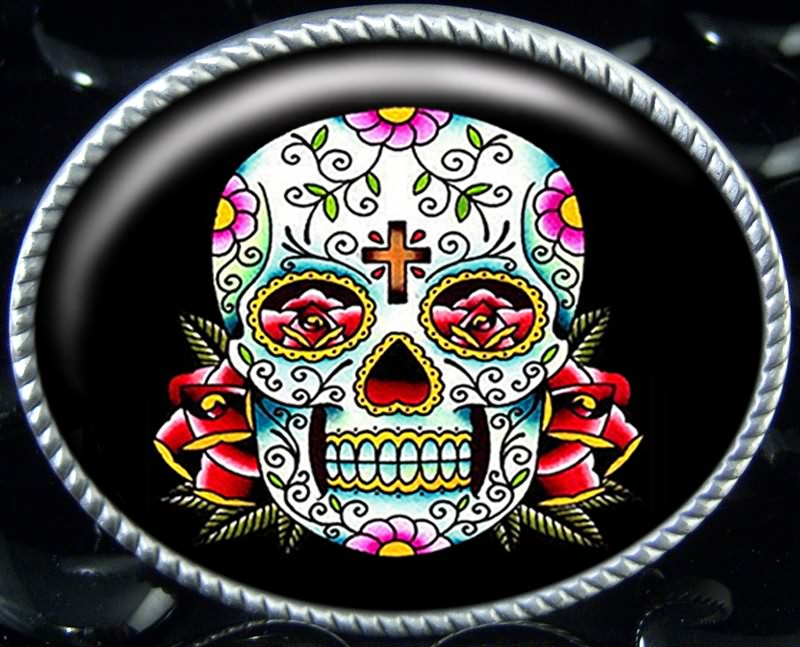 Attractive Dia De Los Muertos Tattoo Design For Girls