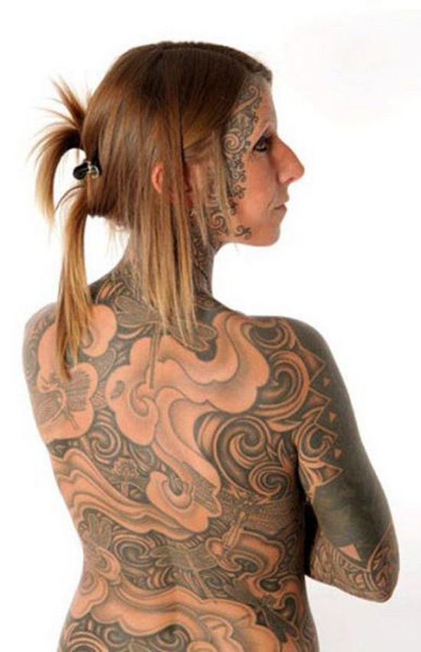 Awesome Entire Body Tattoo Design For Girls