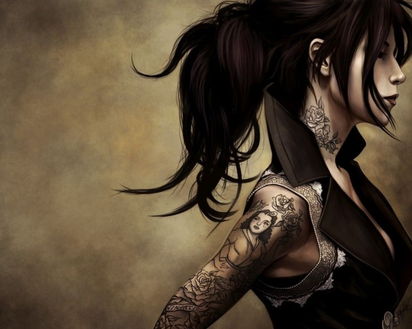 Awesome Fantasy Tattoo For Women