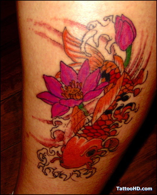Awesome Koi Fish Tattoo Designs For Girls