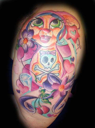 Beautiful Funky Tattoo Design For Boys