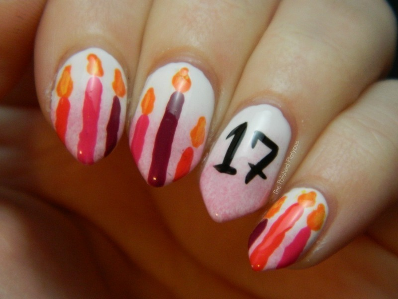 Best Age With Candles Birthday Nails
