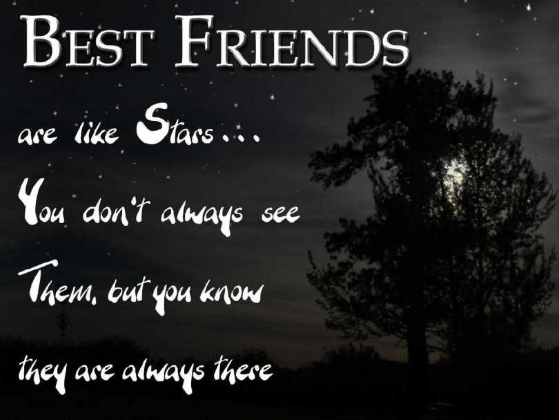 Best Friends Are Like Stars happy Friendship Day Wishes Message