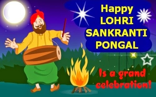 Best Wishes Grand Celebration Happy Lohri Enjoy Image