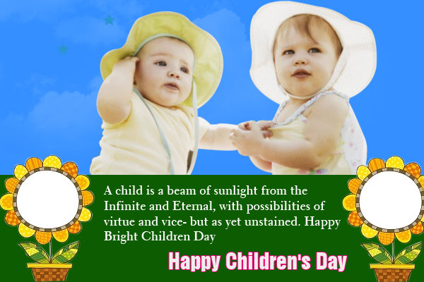 Best Wishes Happy Children's Day Greetings Message Image