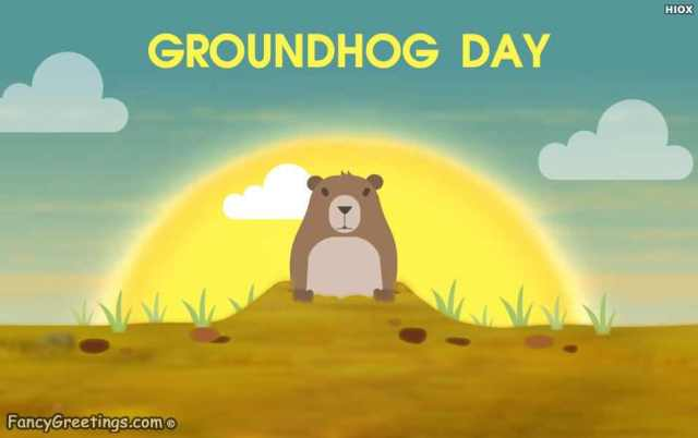 Best Wishes Happy Groundhog Day Greetings Image