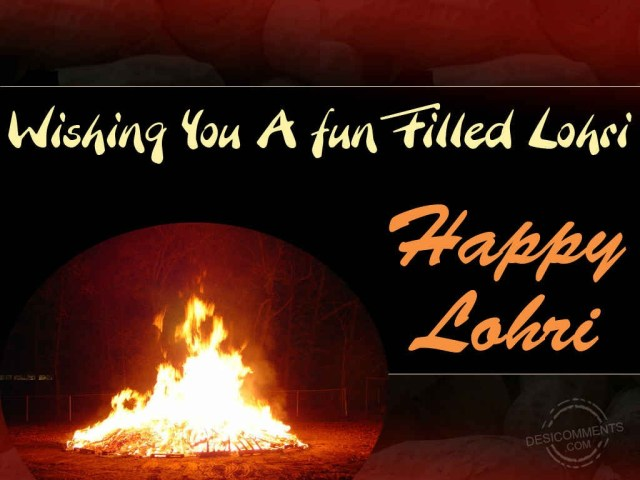 Best Wishes Happy Lohri Greetings Message Image