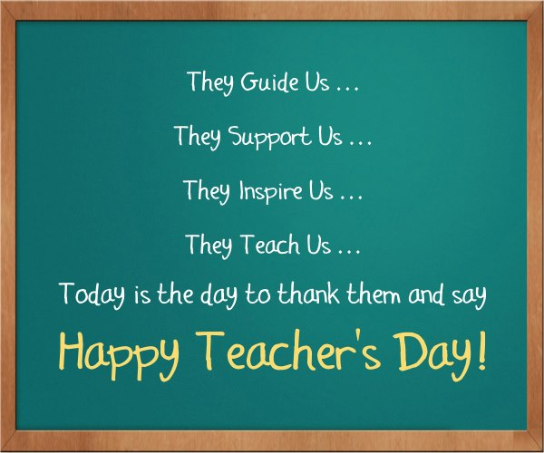 Best Wishes Happy World Teacher's Day Beautiful Message Image