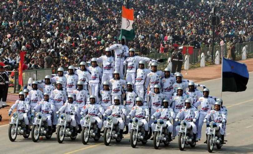 Bike Parade On Happy Republic Day Image