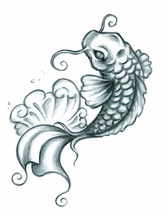 Brilliant Koi Fish Tattoo Design Boys & Girls