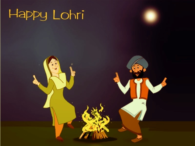 Celebrate Happy Lohri Wishes Image
