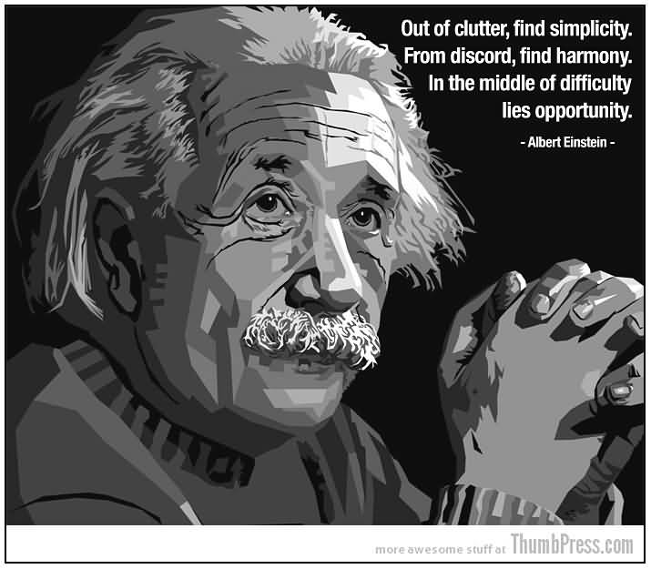 Celebrity Sayings Out Of Clutter Find Simplicity From Discord
