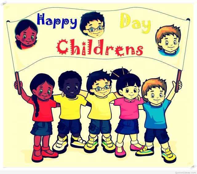 Children Celebrate Happy Children's Day Image