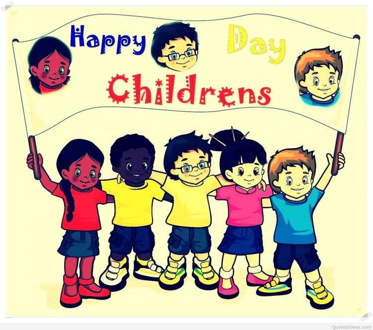 Children Celebrate Happy Children's Day Image