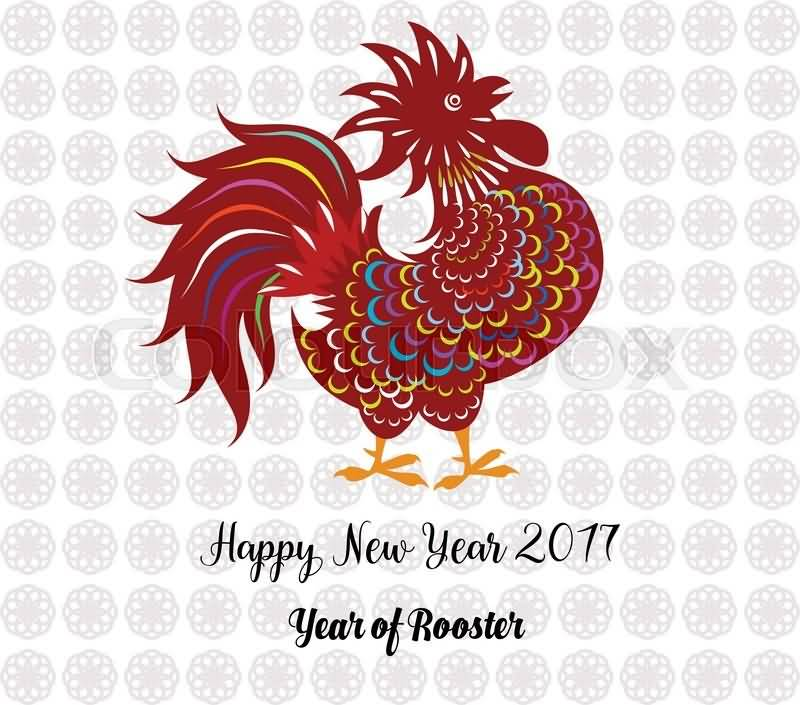Chinese Happy New Year 2017 Year Of Rooster Wishes Card Image