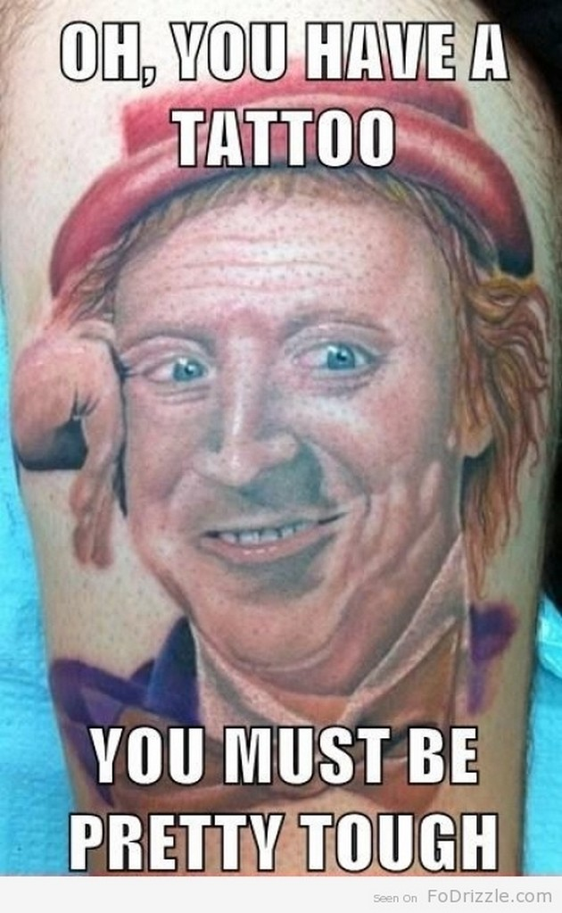Cool Funny Tattoo Picture For Boys